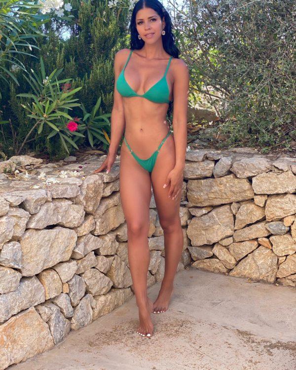 FLORA - Triangle Bikini Top Grün