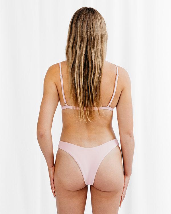 FLORA - Triangle Bikini Top Baby Rosa