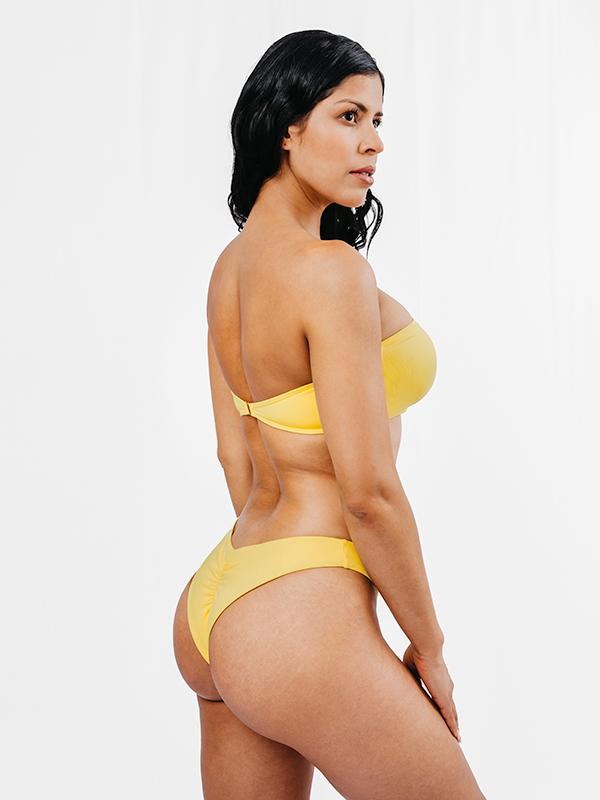 MORENA - Bandeau Bikini Top Yellow