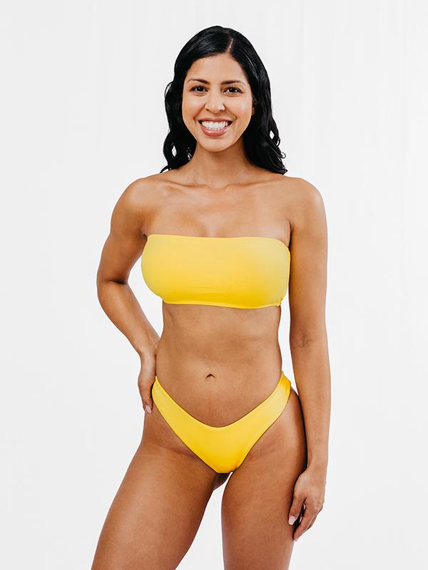 MORENA - Brazilian Cut Bikini Bottom Yellow