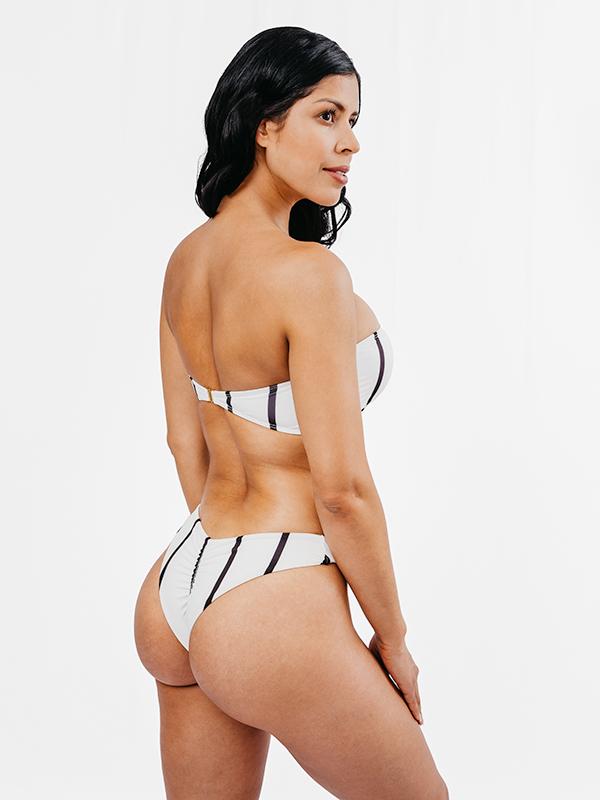 MORENA - Brazilian Cut Bikini Bottom Black&White