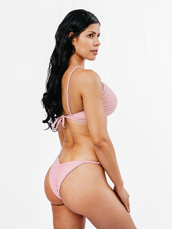 OLINDA - Brazilian Cut Bikini Bottom Pink