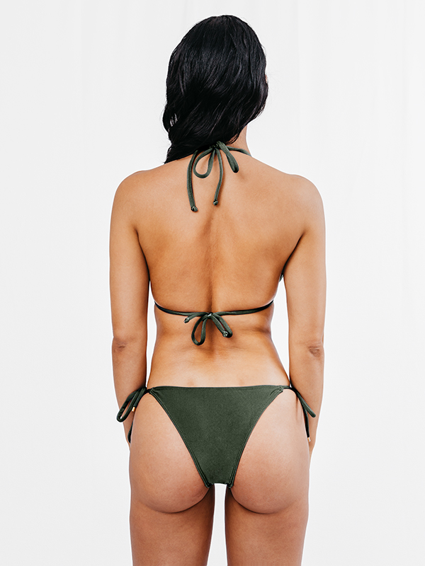 STELLA - Regular Cut Bikini Bottom Khaki