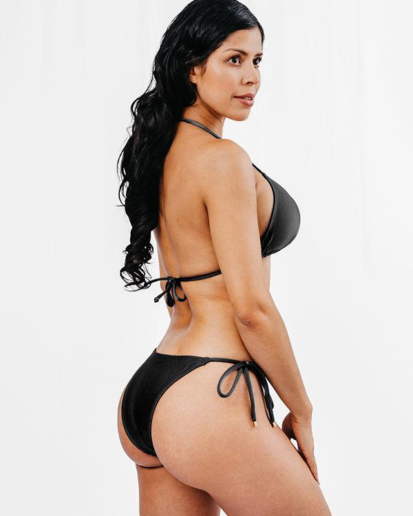 STELLA - Triangle Bikini Top Schwarz