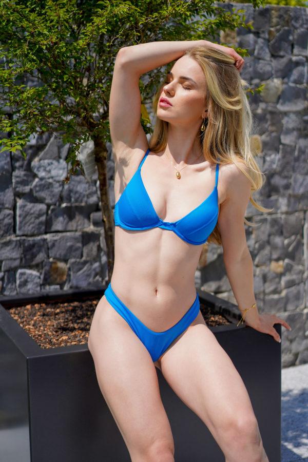RIO – The Brazilian Cut Bikini Bottom Electric Blue