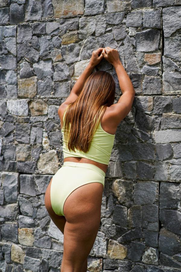 COCO - High Waist Bikini Bottom Pastellgrün