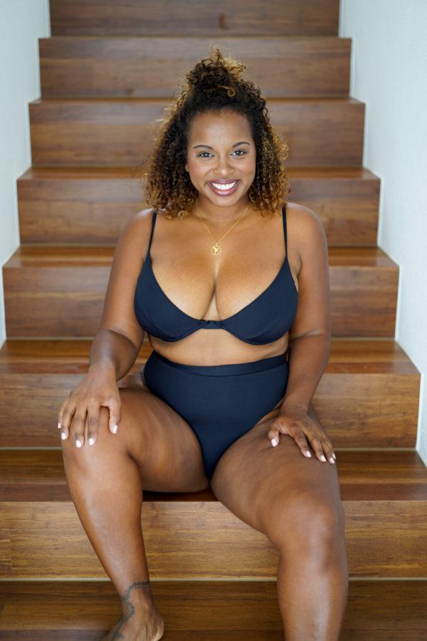 COCO - High Waist Bikini Bottom Black