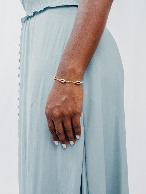 MARISCO Seashell Bracelet 925 Sterling Silver 18k Gold-Plated
