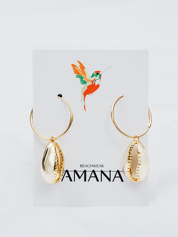 MARISCO Seashell Earrings 925 Sterling Silver 18k Gold-Plated