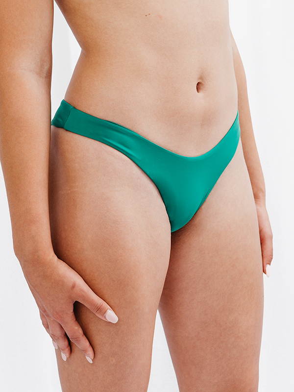 FLORA - Brazilian Cut Bikini Bottom Green