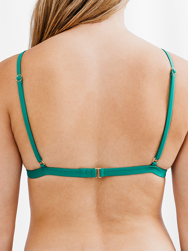 FLORA - Triangle Bikini Top Green