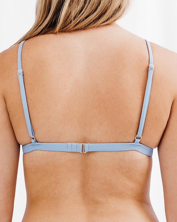 FLORA - Triangle Bikini Top Light Blue