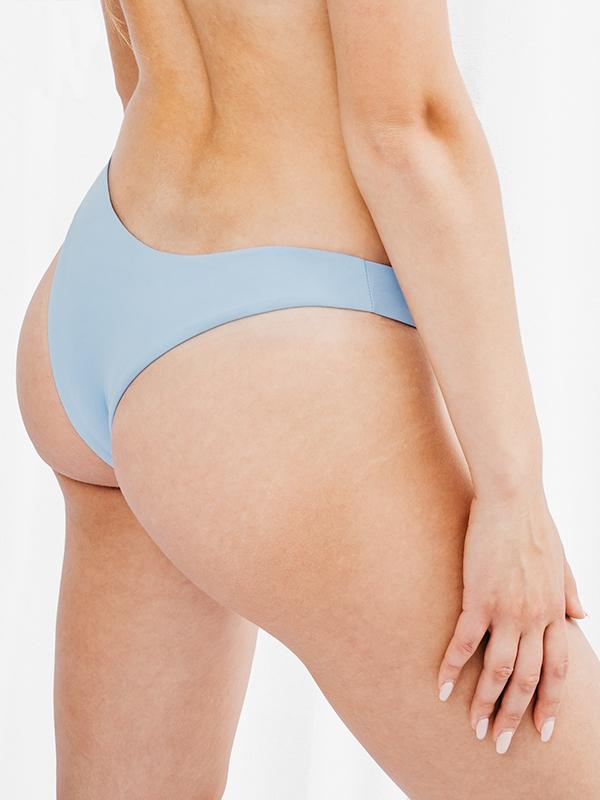 FLORA - Brazilian Cut Bikini Bottom Light Blue