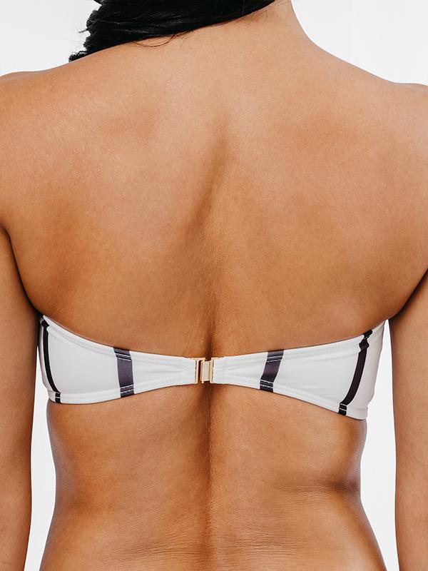 MORENA - Bandeau Bikini Top Schwarz&Weiß