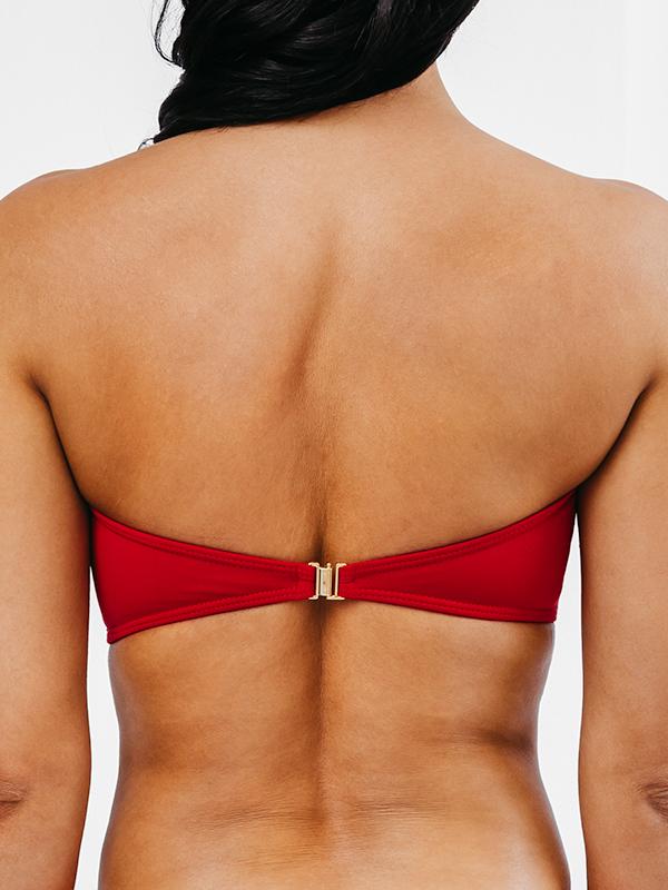 MORENA - Bandeau Bikini Top Red