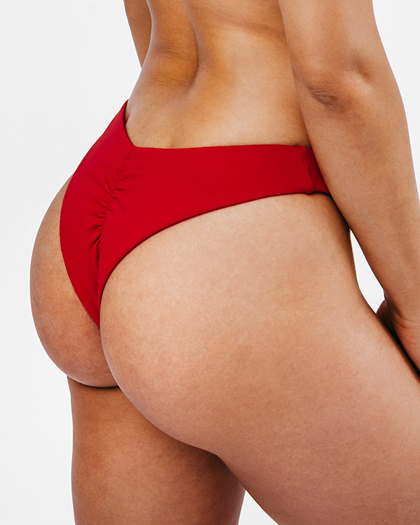 MORENA - Brazilian Cut Bikini Bottom Red
