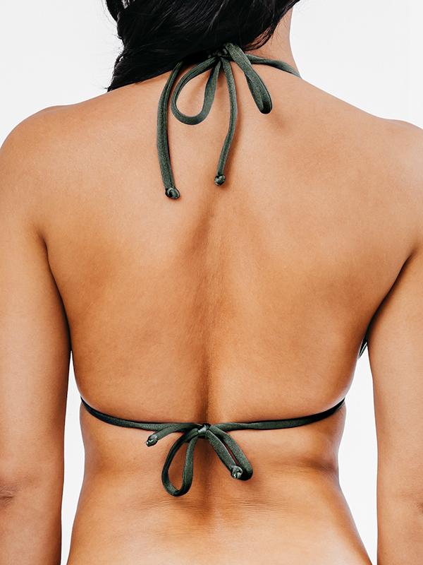 STELLA - Triangle Bikini Top Khaki
