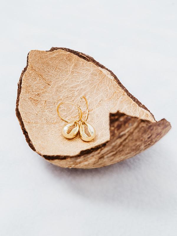 MARISCO Muschel Ohrringe 925 Sterlingsilber 18k vergoldet